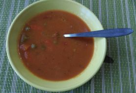 Vegetable Soup Made With Frozen Veg