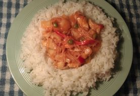 Sweet & Sour Chicken, suitable for a FODMAP diet