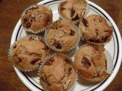 Toffee and Pear Muffins