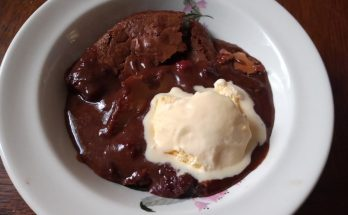 Chocolate and Blackberry Pudding